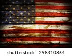 Closeup Of American Flag On...