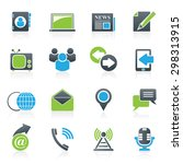 media and communication icons   ... | Shutterstock .eps vector #298313915