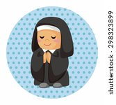 pastor and nun theme elements | Shutterstock .eps vector #298323899