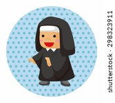 pastor and nun theme elements | Shutterstock .eps vector #298323911