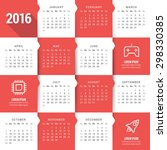 vector calendar template.... | Shutterstock .eps vector #298330385
