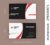 Creative and Clean Business Card Template. Black and Red Colors | Shutterstock vector #298330871