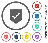 shield icon | Shutterstock .eps vector #298332749