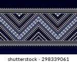 geometric ethnic pattern design ... | Shutterstock .eps vector #298339061