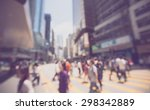 blurred background   crowded... | Shutterstock . vector #298342889