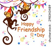 happy friendship day. greeting... | Shutterstock .eps vector #298343489