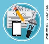 news breaking design  vector... | Shutterstock .eps vector #298346531
