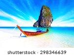 sand beach on sea coast of... | Shutterstock . vector #298346639