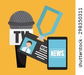 news breaking design  vector... | Shutterstock .eps vector #298350311