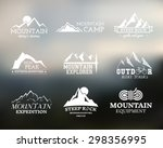 set of summer and winter... | Shutterstock .eps vector #298356995