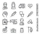 medicine and health icons.... | Shutterstock .eps vector #298358885