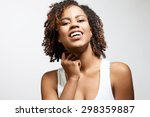 young black model laughing and... | Shutterstock . vector #298359887