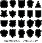 black and white shield... | Shutterstock .eps vector #298361819