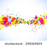 abstract colorful background | Shutterstock .eps vector #298369835