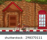 Front View Of A House With A...