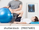 small patient doing exercise... | Shutterstock . vector #298376801