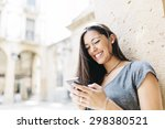 Young Smiling Woman Text...