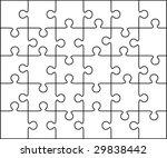 vector puzzle | Shutterstock .eps vector #29838442
