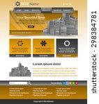 easy customizable yellow ochre...   Shutterstock .eps vector #298384781