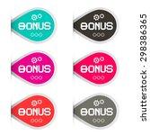 bonus labels set   Shutterstock . vector #298386365
