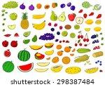 healthy food hand drawn vector... | Shutterstock .eps vector #298387484