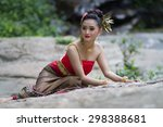 thai woman in traditional... | Shutterstock . vector #298388681