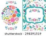 amazing vector floral...   Shutterstock .eps vector #298391519