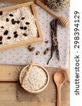 oat flakes with currant dried... | Shutterstock . vector #298394129