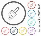 paint brush icon | Shutterstock .eps vector #298394465