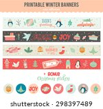 cute vector cards  notes ... | Shutterstock .eps vector #298397489