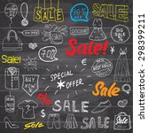 sale signs and price discount... | Shutterstock .eps vector #298399211