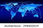 a blue  high detail... | Shutterstock . vector #298402019