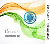 indian independence day concept ... | Shutterstock .eps vector #298407155