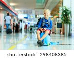 Cute Little Boy Waiting In The...
