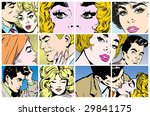collection of portraits of... | Shutterstock . vector #29841175