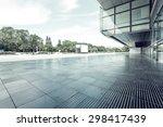modern building glass wall and... | Shutterstock . vector #298417439