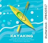 kayak and paddle. vector... | Shutterstock .eps vector #298420517