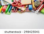 school office supplies     Shutterstock . vector #298425041