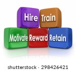 hire  train  motivate  reward... | Shutterstock . vector #298426421