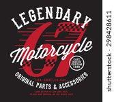 motorcycle racing legendary... | Shutterstock .eps vector #298428611