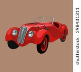 nice retro red race car... | Shutterstock .eps vector #298431311