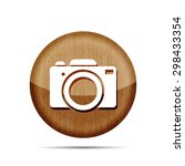 wooden digital camera icon...