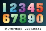 polygon number alphabet... | Shutterstock .eps vector #298435661