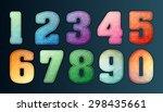 polygon number alphabet... | Shutterstock .eps vector #298435661
