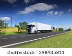 truck transportation on the road | Shutterstock . vector #298435811