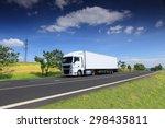 truck transportation on the road | Shutterstock . vector #298435811