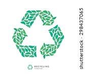 beautiful recycle symbol logo... | Shutterstock .eps vector #298437065