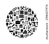 home repair and tools icons | Shutterstock .eps vector #298437974