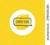 vector funny lemon logo in...   Shutterstock .eps vector #298438184