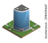 skyscraper in isometric style...   Shutterstock .eps vector #298439669